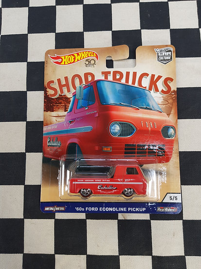 Hot Wheels Shop Trucks 60's Ford Econoline Pickup