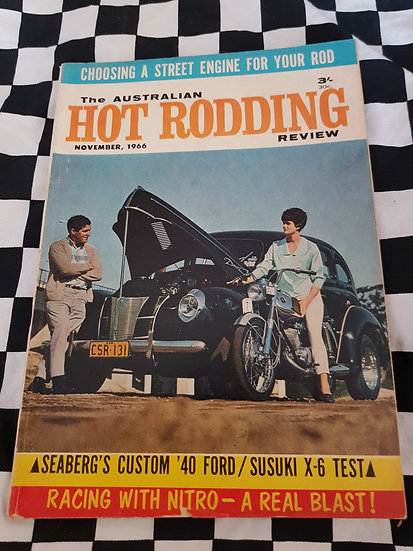 Australian Hot Rodding Review magazine Nov 1966