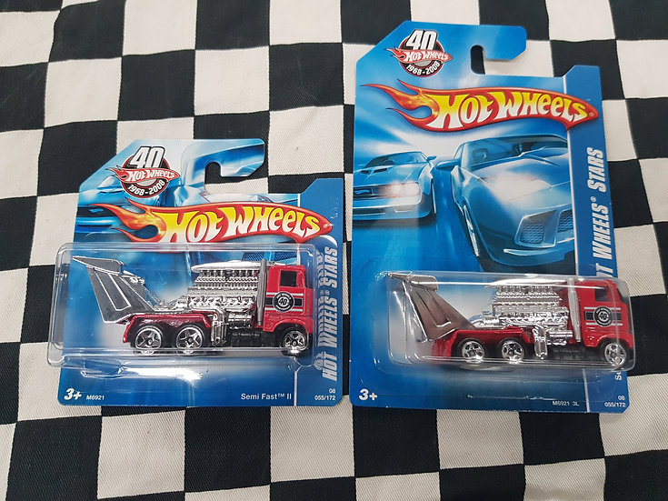 Hot Wheels Stars 2008 Semi Fast 2 Red  Choice of Long or Short Card