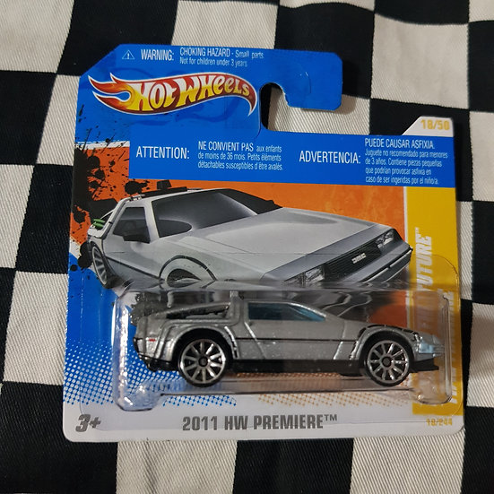Hot Wheels 2011 First Edition  Back to The Future Time Machine Delorean Short