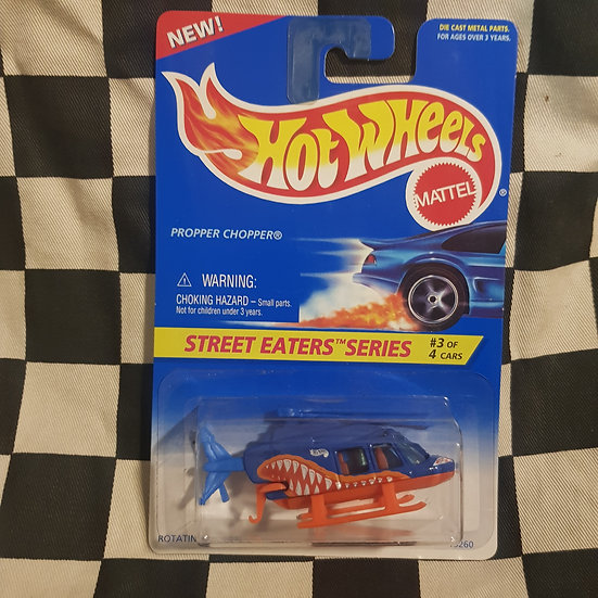 Hot Wheels 1995 Street Eaters Propper Chopper Helicopter
