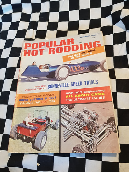 Popular Hot Rodding Magazine November 1964