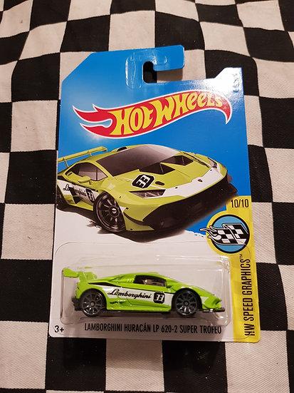 Hot Wheels 2015 Lamborghini Huracan LP 620-2 Super Trofeo GREEN