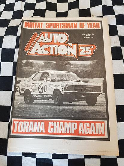 Australian Auto Action Magazine #20 Nov 12 1971