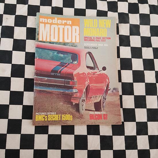 Modern Motor September 1968 HK GTS Monaro FULL TEST XT GT Falcon