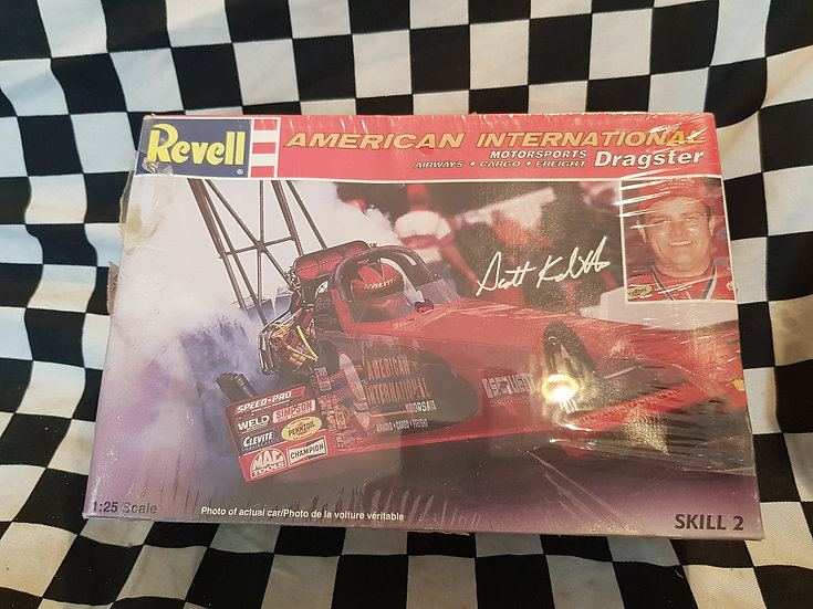 Revell American International Motorsports TOP FUEL DRAGSTER Plastic Model Kit