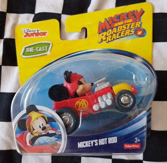 HTF Disney juniors MICKEYS HOT ROD Die cast model
