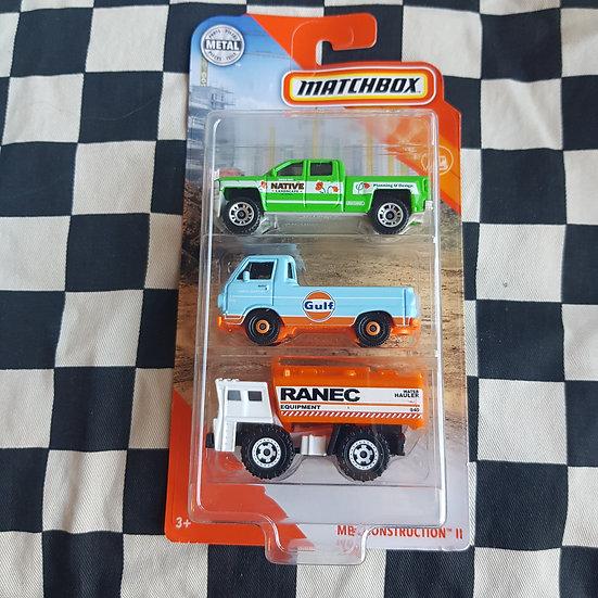 Matchbox 3 Pack Chevrolet Pickup Gulf Ford Econoline Water Truck