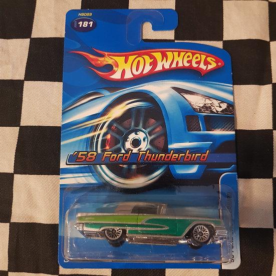 Hot Wheels 2005  #181 58 Ford Thunderbird Silver