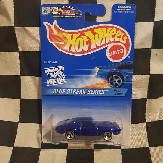 Hot Wheels 1996 Blue Streak Series Olds 442