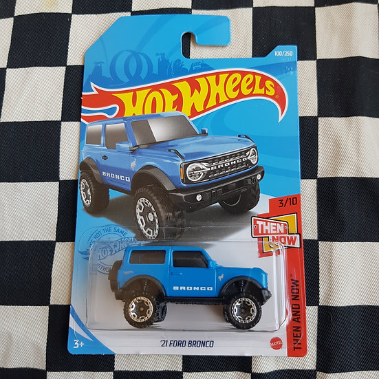 Hot Wheels 2021 Then and Now 21 Ford Bronco Blue