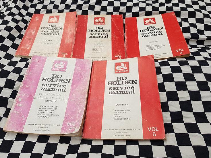 Hq Holden 5 Volume Set Workshop Manuals Gts Premier Kingswood