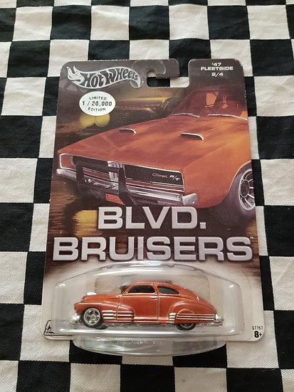 Hot Wheels BLVD BRUISERS 47 Chevy Fleetside Bronze