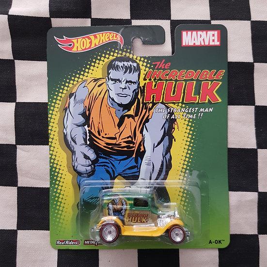 Hot Wheels Premium Incredible Hulk A-OK Model A Ford Hot Rod