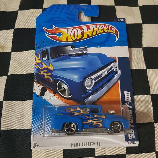 Hot Wheels 2011 Heat Fleet 56 Ford F100 Panel Blue