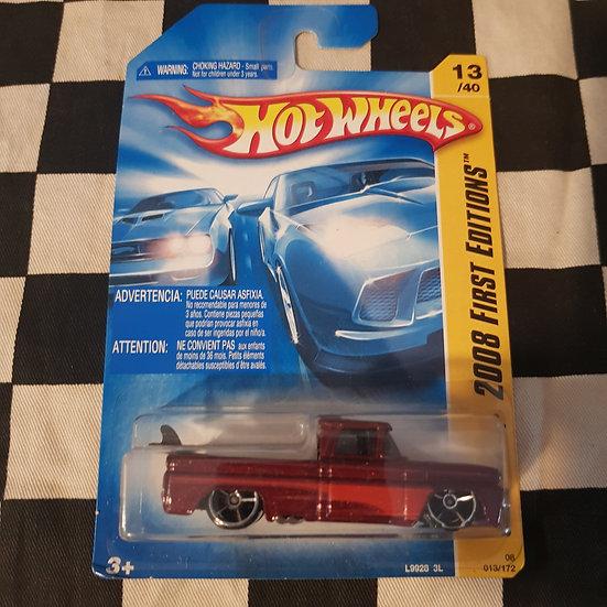 Hot Wheels 2008 First Edition Custom 62 Chevy Pickup Maroon
