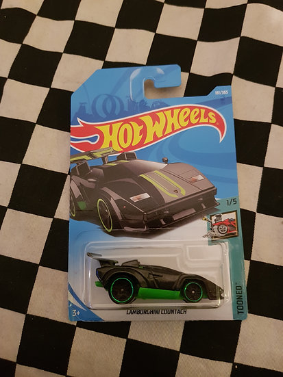 Hot Wheels 2018 Tooned Lamborghini Countach Black/Green