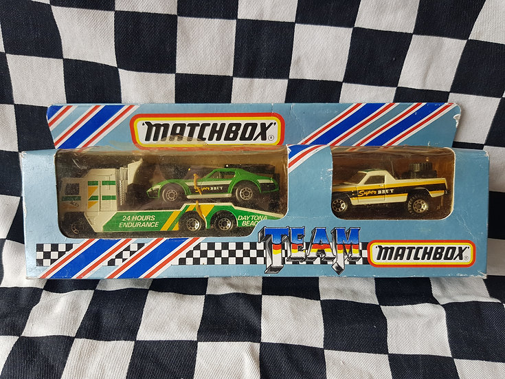 Rare Matchbox Team Transport Holden Ute Corvette Truck  Faberge Super Brut