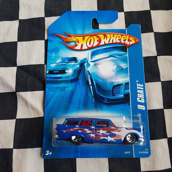 Hot Wheels 2006 8 Crate Ford Customline Wagon Blue