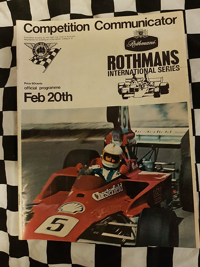 Competition Communicator Feb 20 1977 Rothmans race programme