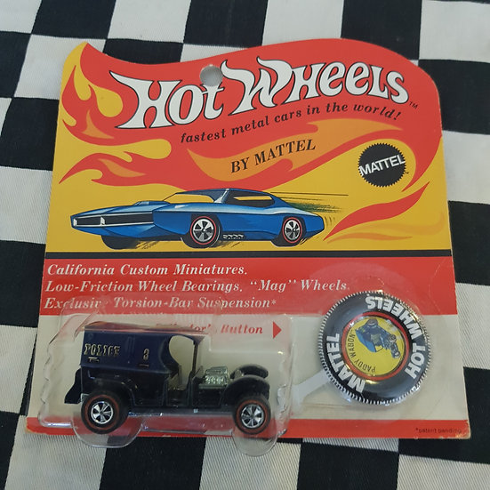 Genuine 1969 Hot Wheels Redline Paddy Wagon Carded rare find!