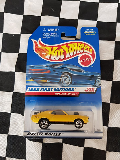 Hot Wheels 1998 First Editions YELLOW Mustang Mach 1