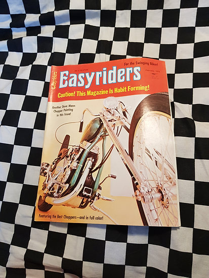RARE! Easyriders Feb 1972 Vol 2 #1 (Missing centre Page/poster)