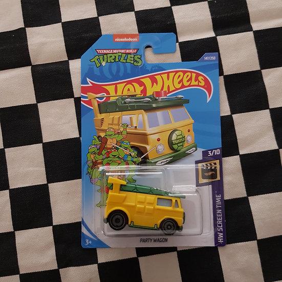 Hot Wheels 2020 Screen Time Teenage Mutant Ninja Turtles Party Wagon Van