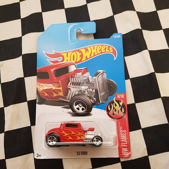 Hot Wheels Flames Series Red 32 Ford