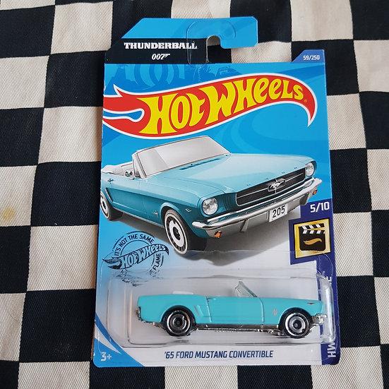 Hot Wheels 2019 Screen Time 007 James Bond Thunderball 65 Ford Mustang Convert