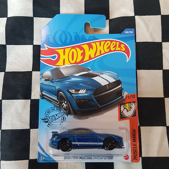 Hot Wheels 2020 Muscle Mania 2020 Ford Mustang Shelby GT500 Blue
