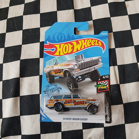 Hot wheels 2020 Race Day 64 Nova Wagon Gasser GREY