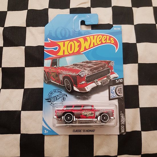 Hot Wheels 2020 Rod Squad Classic 55 Nomad Red