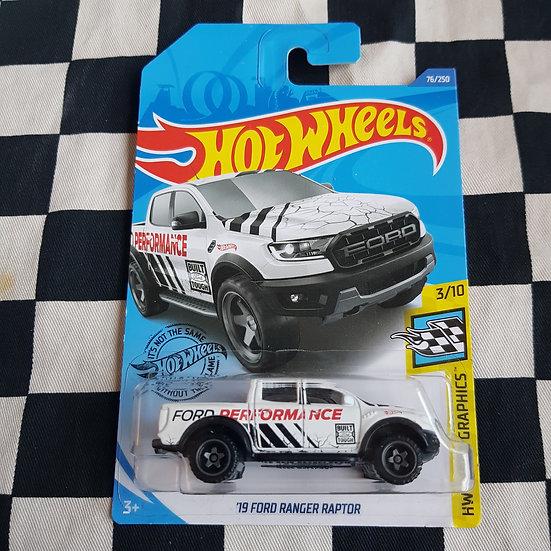 Hot Wheels 2019 Speed Graphics 19 Ford Ranger Raptor White
