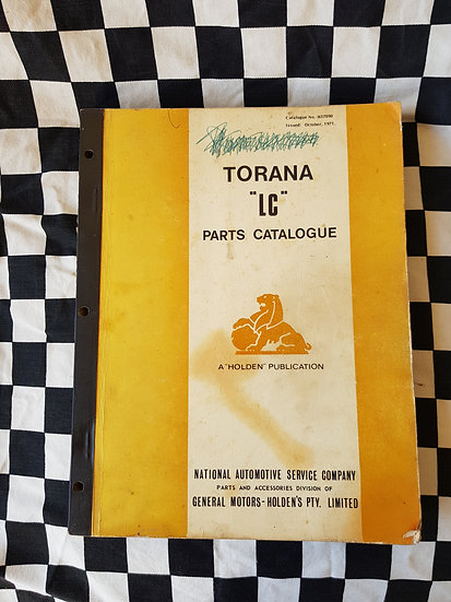 Genuine LC TORANA Illustrated Parts Catalogue incl GTR
