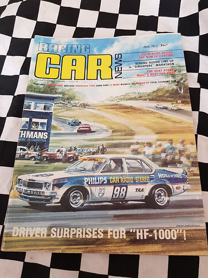 RACING CAR NEWS 7/77 Torana