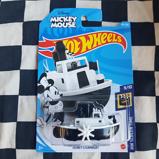 Hot Wheels 2021 Screen Time Mickey Mouse Disney Steamboat
