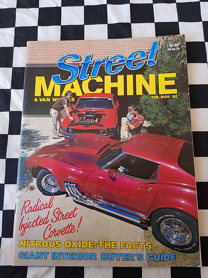 STREET MACHINE & VAN WHEELS issue #3 feb mar 82