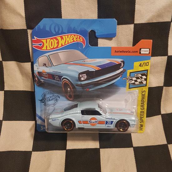 Hot Wheels 2019 Speed Graphics  65 Mustang 2+2 Fastback Gulf Blue Short Card