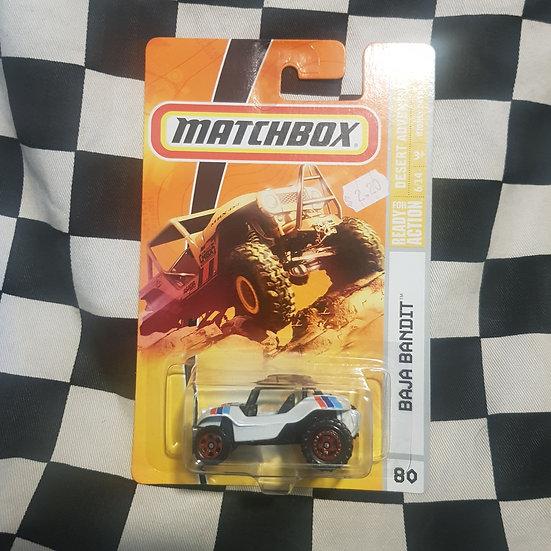 Matchbox 2008 Desert Adventure Baja Bandit VW Myers Manx Buggy White