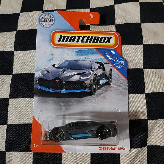 Matchbox Mbx Coastal 2018 Bugatti Divo Blue