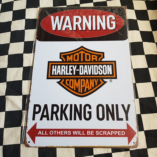 Tin Sign Repro 20x30 Harley Davidson Parking only
