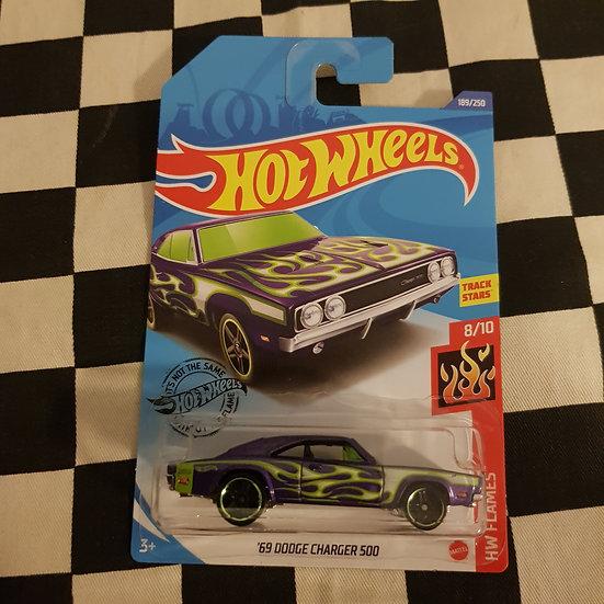 Hot Wheels 2020 Flames 69 Dodge Charger Purple