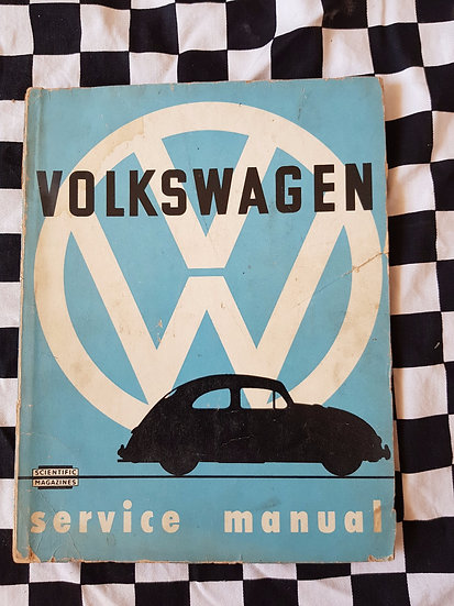 Rare 1956 print Volkswagen Beetle workshop manual