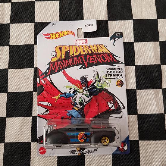 Hot Wheels 2020 Spiderman Tail Dragger Kustom Lead Sled Black