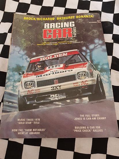 RACING CAR NEWS 11/78  Brock!