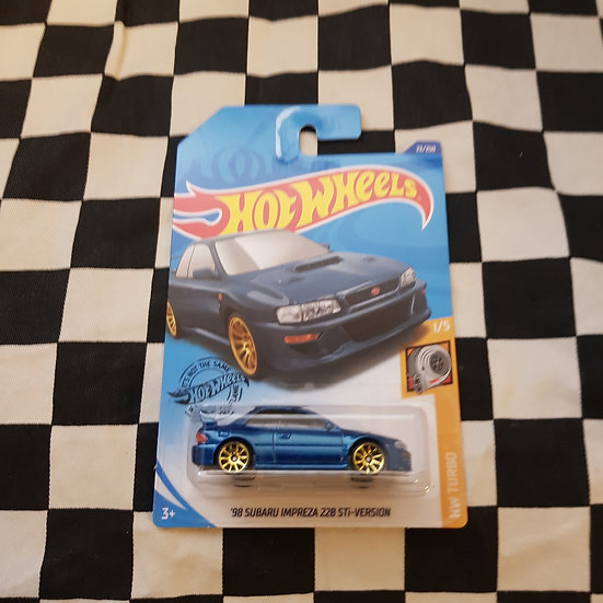 Hot Wheels 2020 Turbo series 98 Subaru Imprezza 22B Sti Version Blue