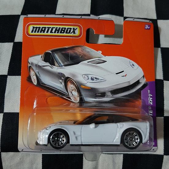 Matchbox  2010 Chev Corvette ZR-1 White Short Card