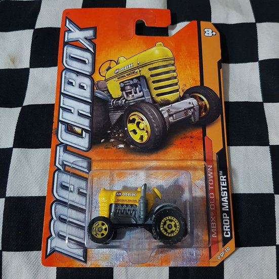 Matchbox 2012  Old Town Crop Master Tractor Yellow