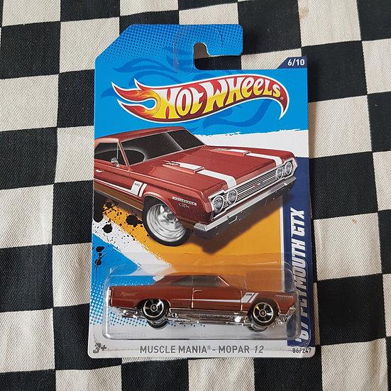 Hot Wheels 2012 Muscle Mania Mopar 67 Plymouth GTX Brown
